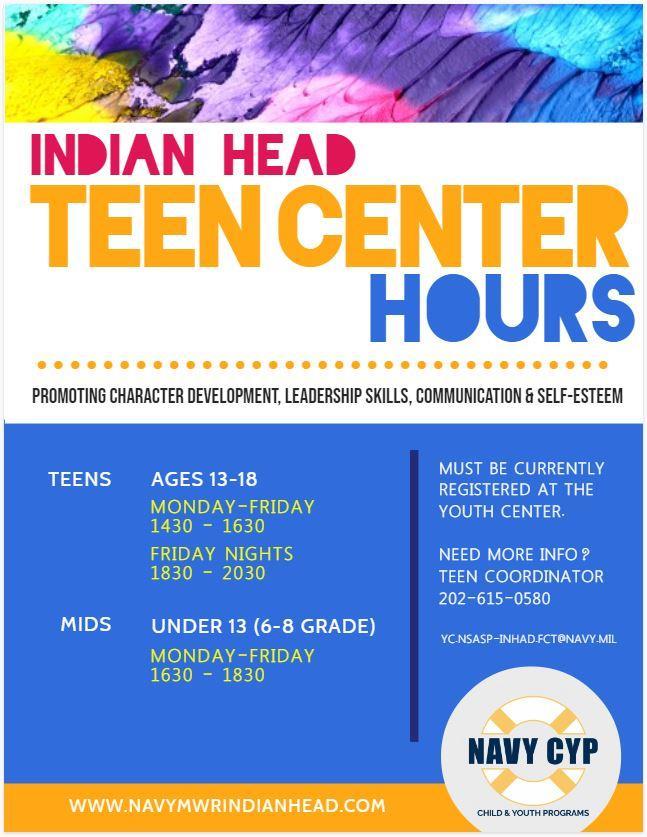 Teen Center Hours